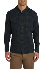 Micro Plaid Stretch Double Face Shirt