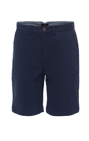 Navy Stretch Chino Short