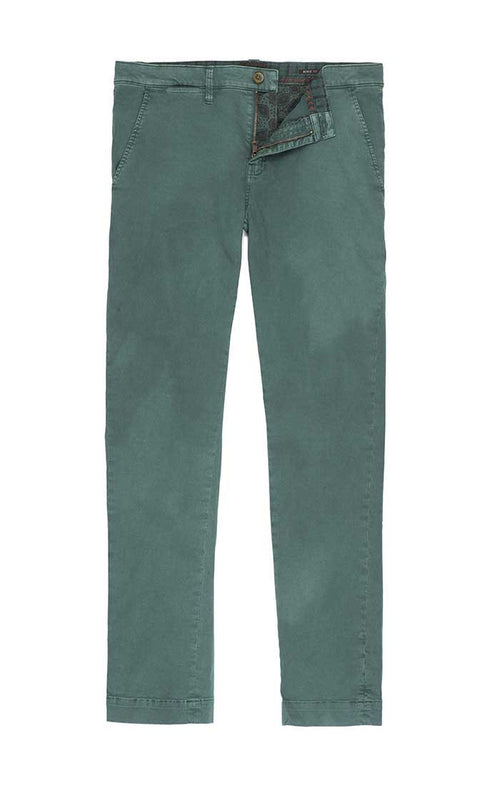 Teal Bowie Fit Stretch Cotton Chino