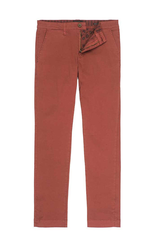 Light Red Bowie Fit Stretch Cotton Chino