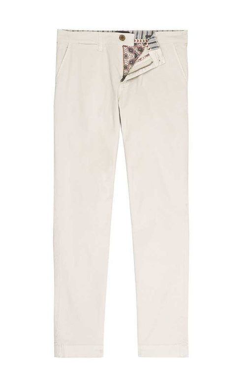 Off White Bowie Fit Stretch Cotton Chino