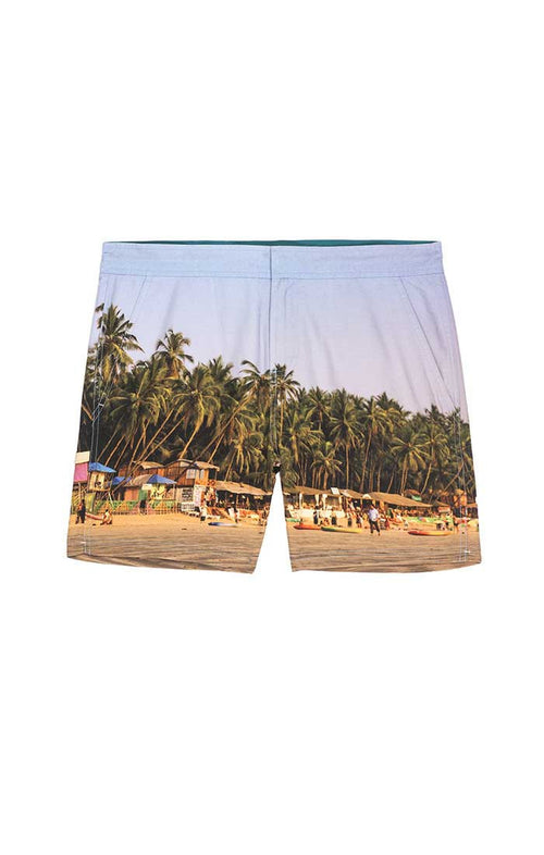 Beach Print Hampton Swim Trunk