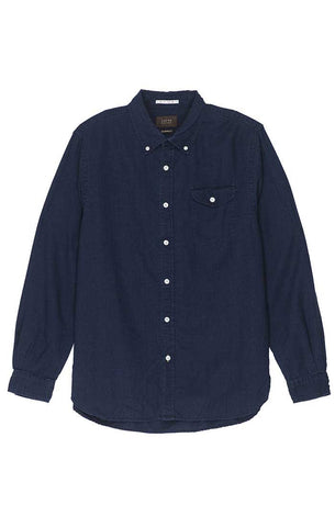 Charred Navy Striped Jaspe Shirt