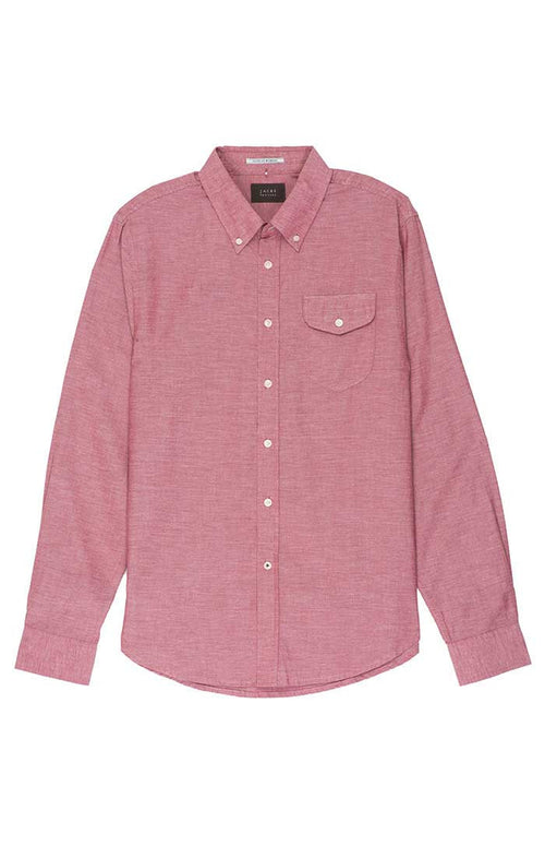 Red Washed Light Oxford Shirt - jachs