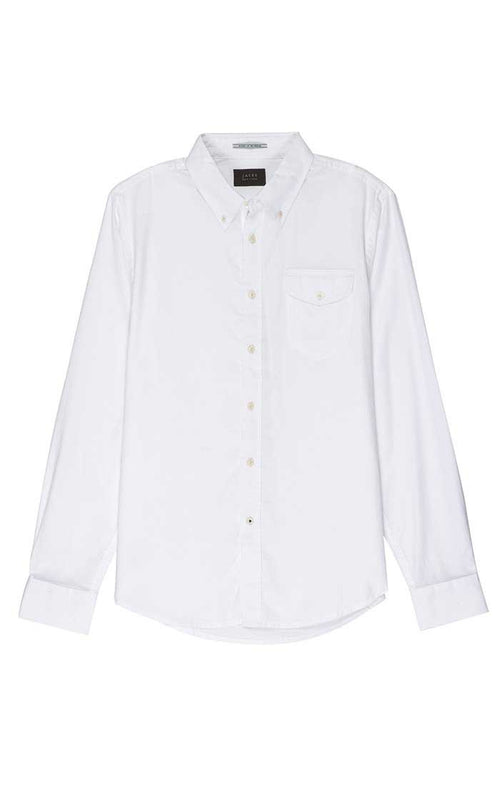 White Washed Light Oxford Shirt