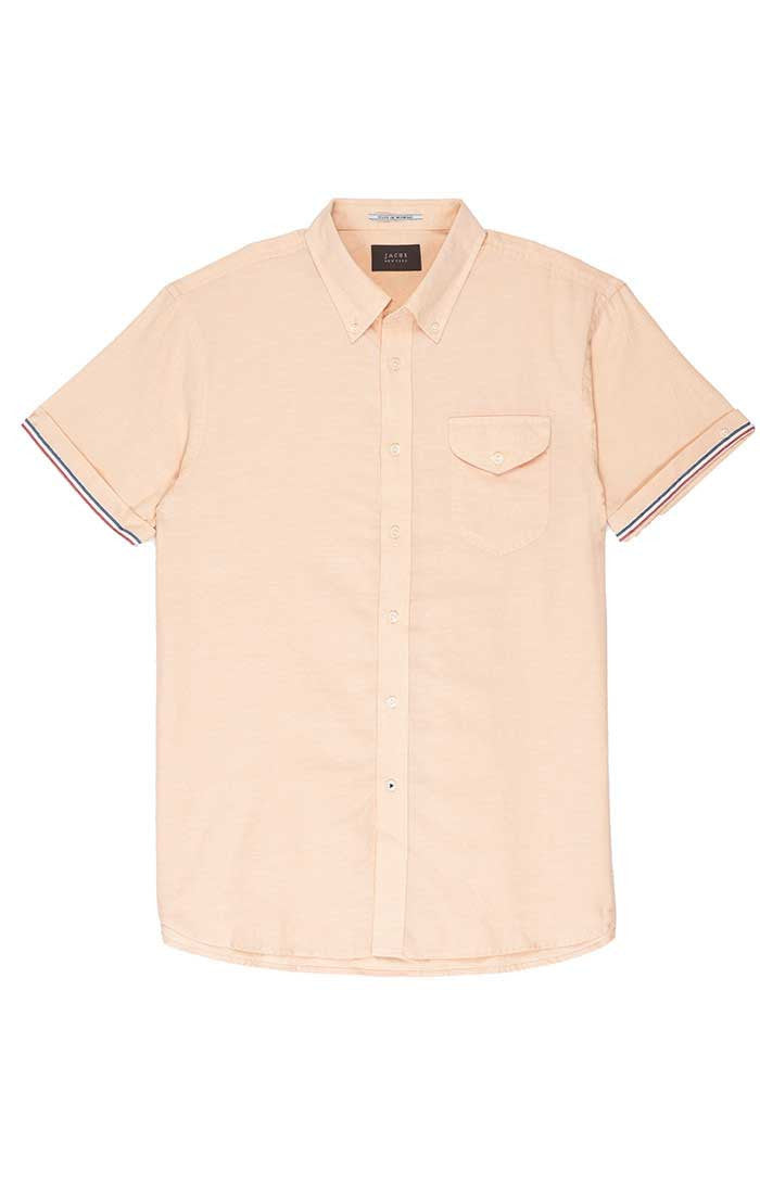 Orange Short Sleeve Oxford Shirt