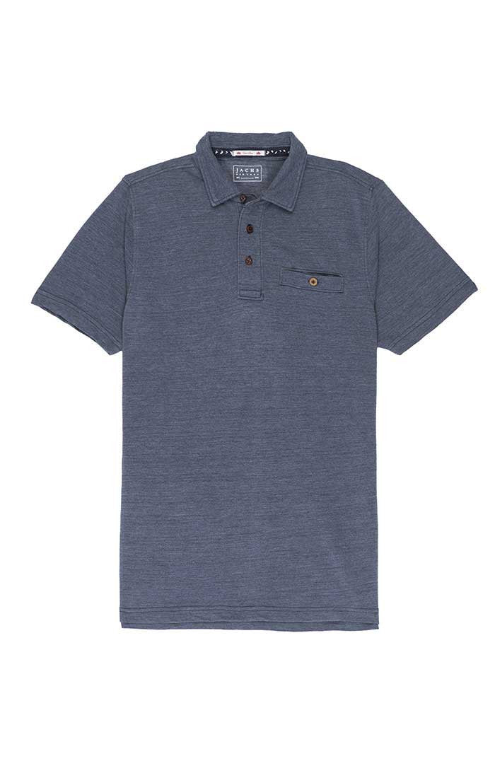Indigo Washed Pique Polo