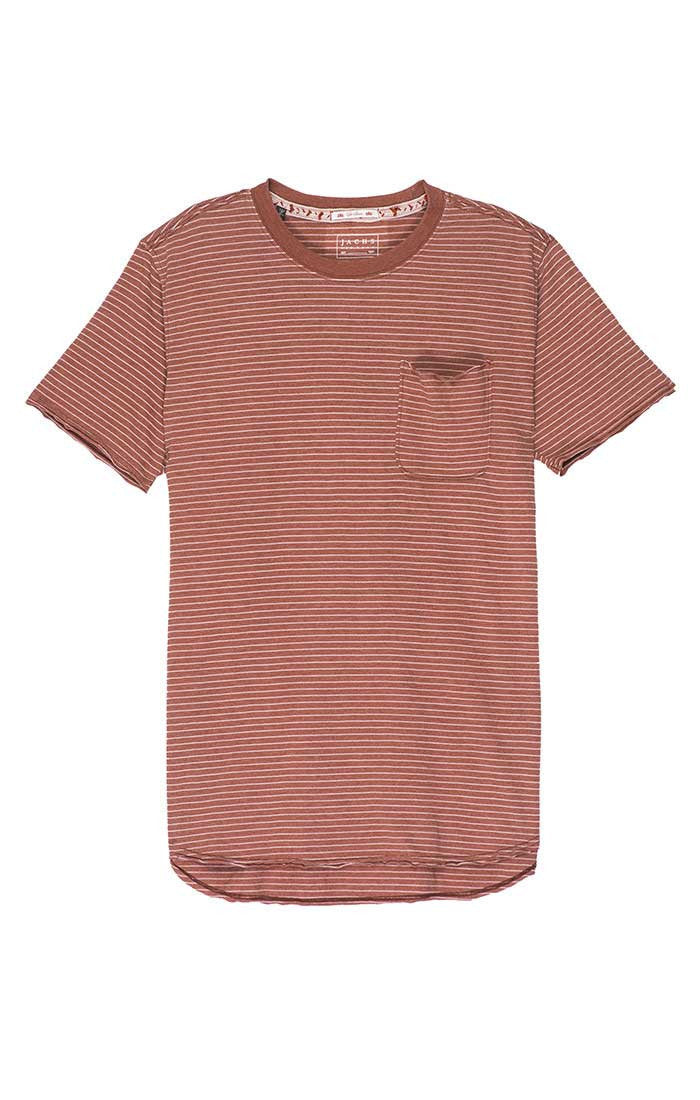Red Striped Pocket Tee