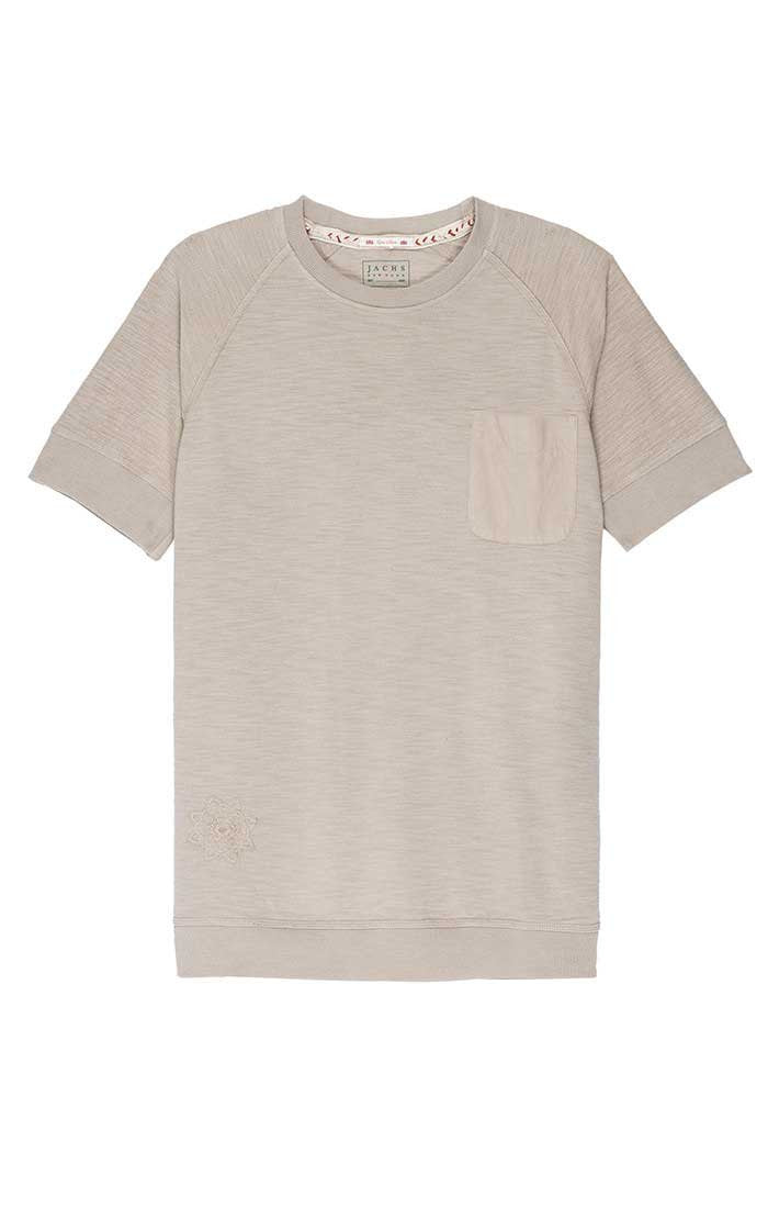 Grey French Terry Raglan Tee