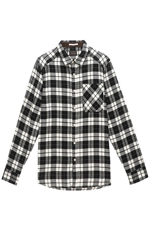 Red and Grey Plaid Light Flannel Shirt