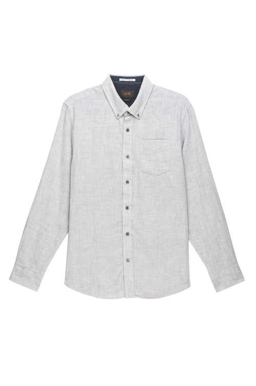 Grey Heathered Double Face Shirt - jachs