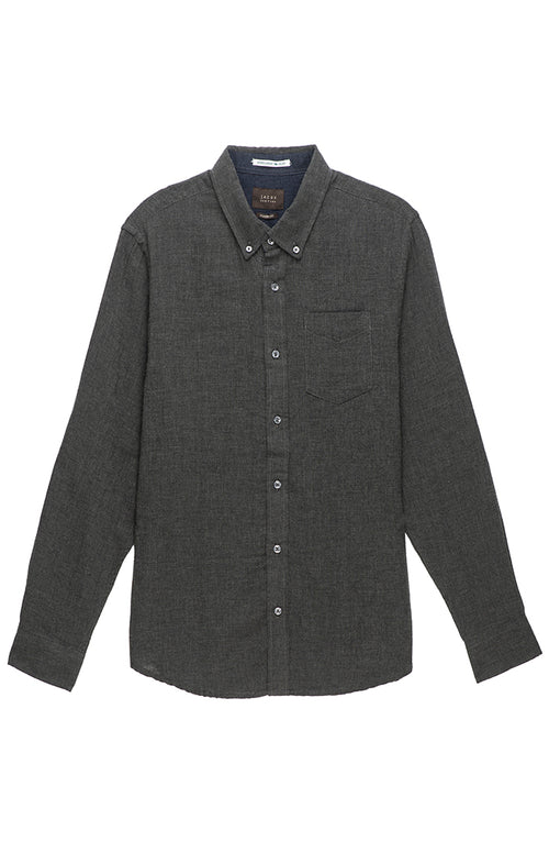 Charcoal Heathered Double Face Shirt - jachs