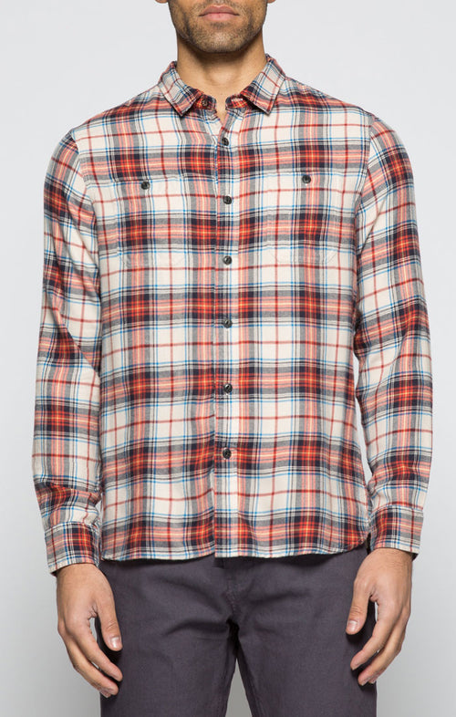 Tan SofBlend Flannel Shirt