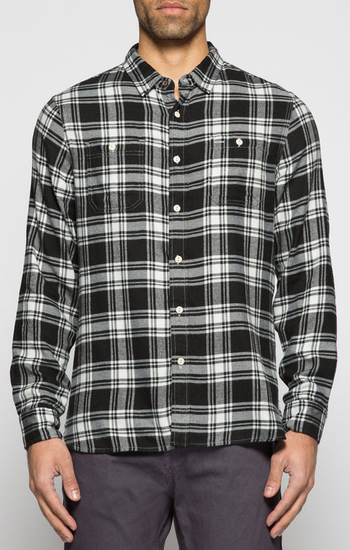 Black SofBlend Flannel Shirt