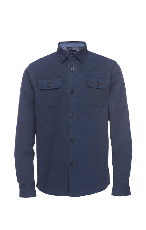 Navy Moleskin Shirt Jacket