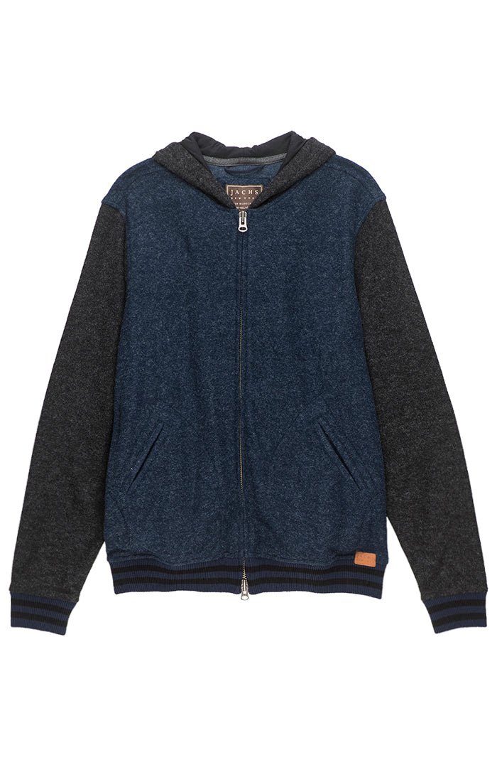 Heathered Fleece Varsity Hoodie