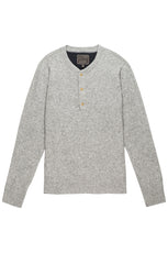 Grey Wool Blend Sweater Henley - jachs