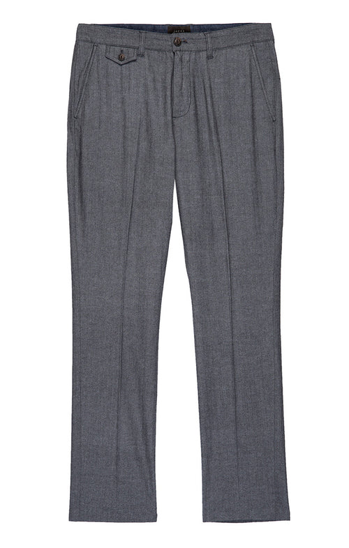 Charcoal Stretch Herringbone Bowie Fit Pant
