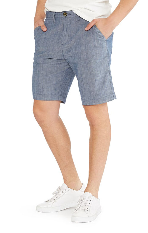 Blue Stretch Chambray Short