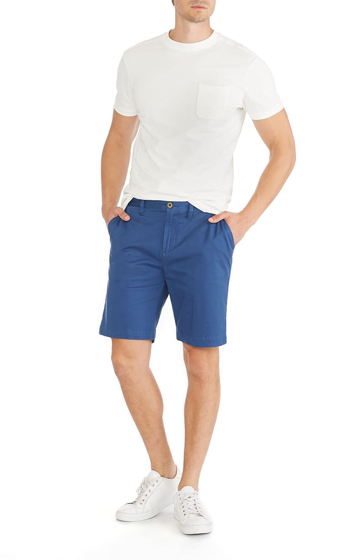 Blue Printed Stretch Bleecker Short