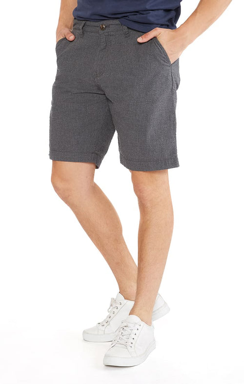 Charcoal Seersucker Short