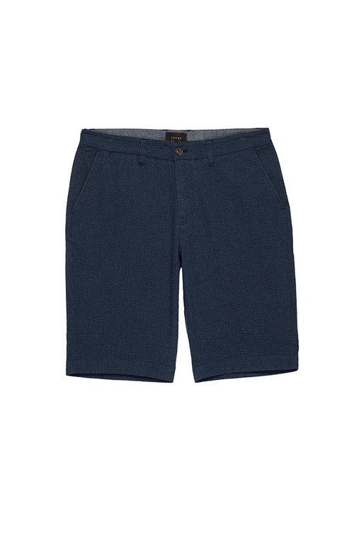 Navy Seersucker Short