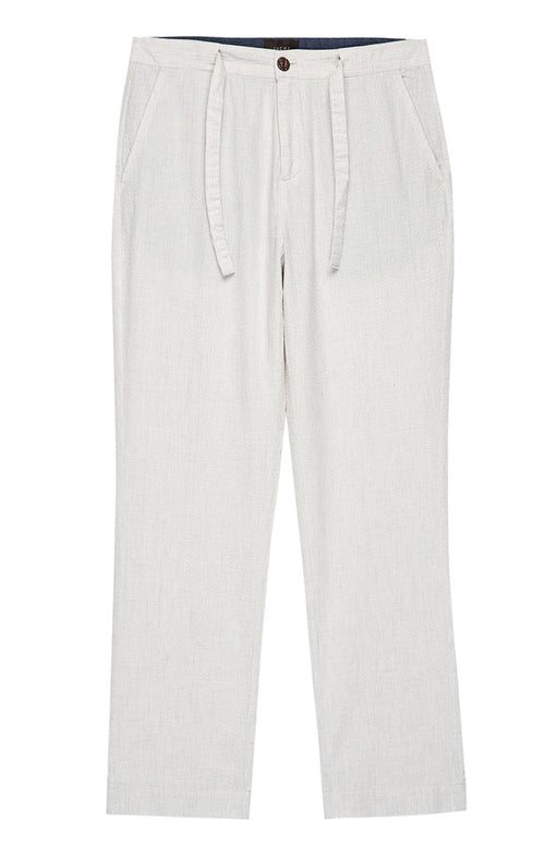 White Seersucker Miami Pant