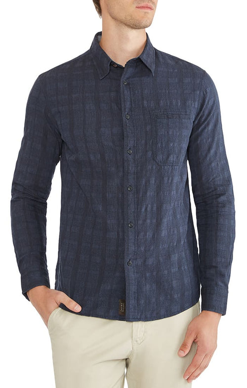 Tonal Check Basket Weave Shirt