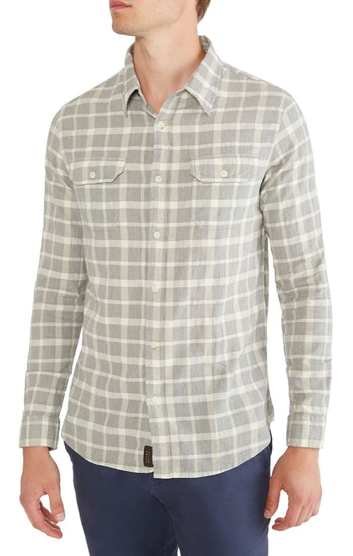 Grey Check Basket Weave Shirt