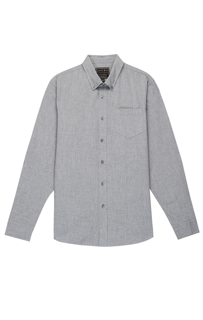 Grey Seersucker Shirt - jachs