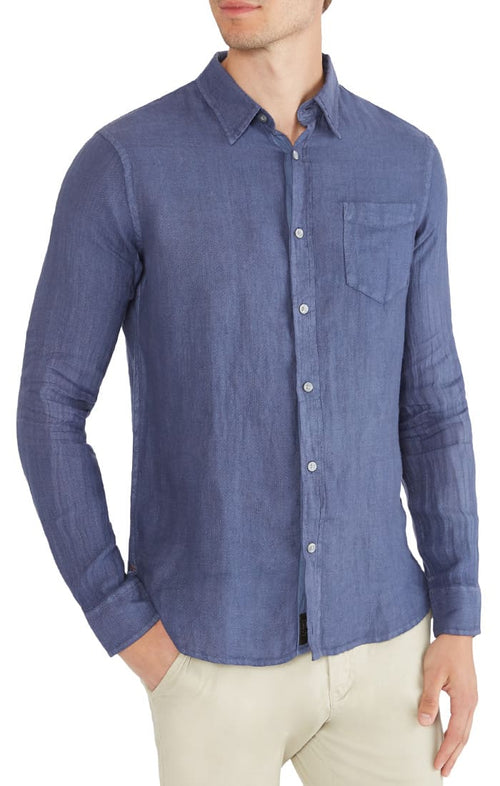 Light Indigo Linen Shirt