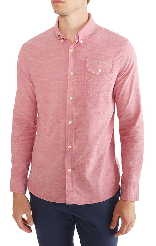 Red Stretch Oxford Shirt