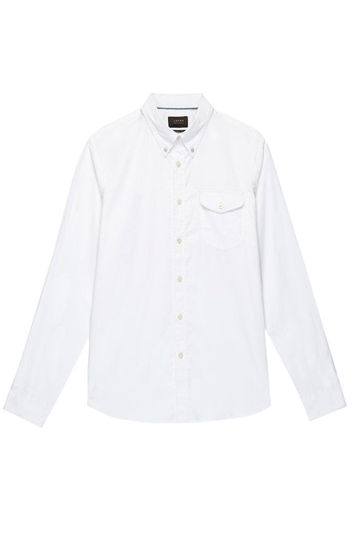 White Stretch Oxford Shirt