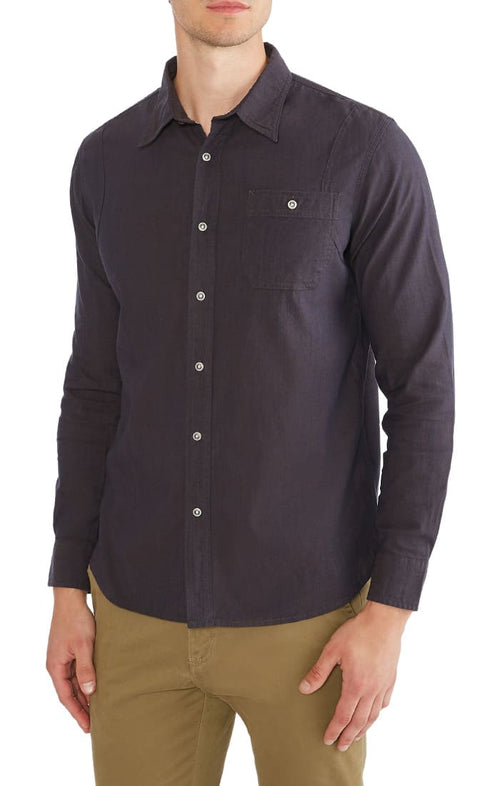 Indigo Stretch Western Shirt