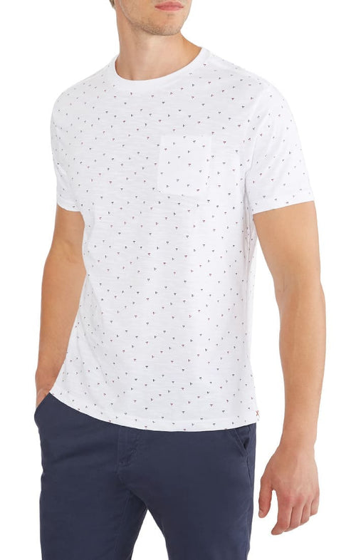 Arrow Print Slub Pocket Tee