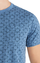 Lotus Print Slub Pocket Tee - jachs