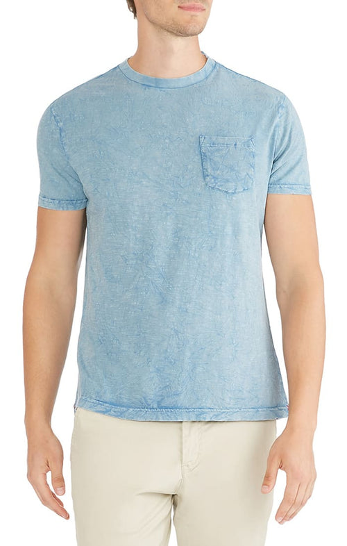 Blue Crinkle Wash Pocket Tee