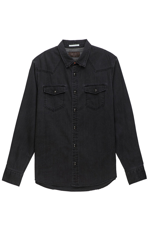 Black Denim Western Shirt