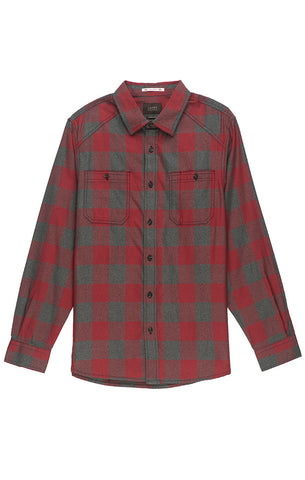 Navy Buffalo Plaid Light Flannel Shirt