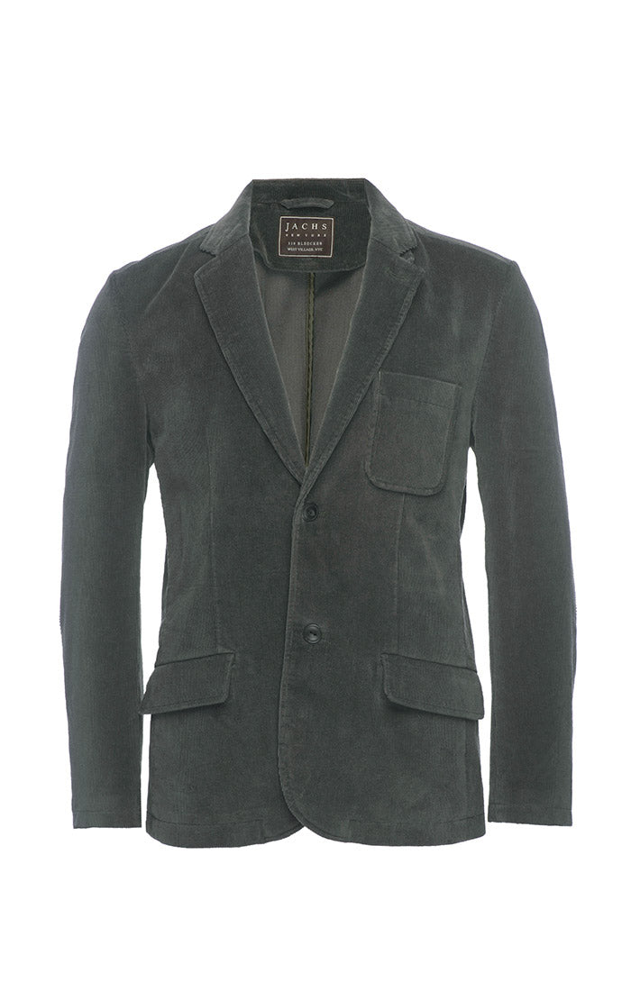 Forest Green Stretch Corduroy Blazer