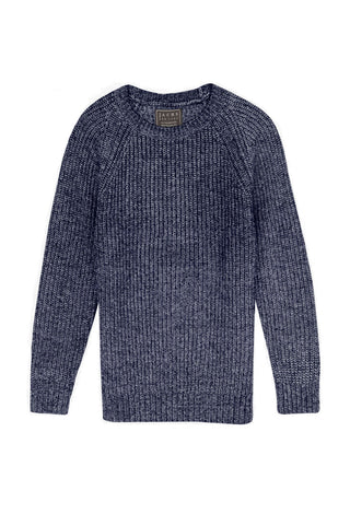 Charcoal Merino Twill Crewneck Sweater