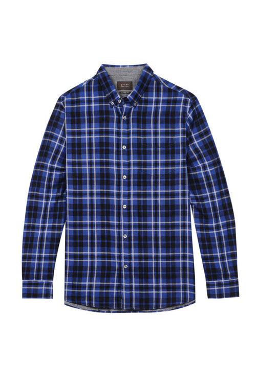 Indigo Plaid Double Face Shirt