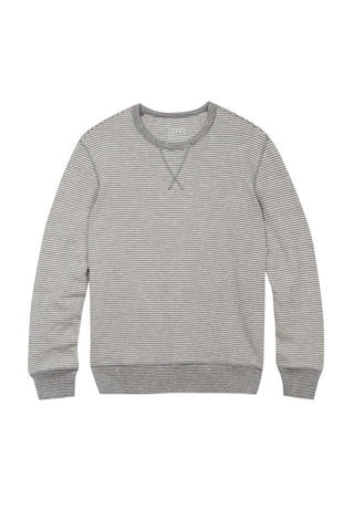 Light Grey Merino Wool Elbow Patch Crewneck