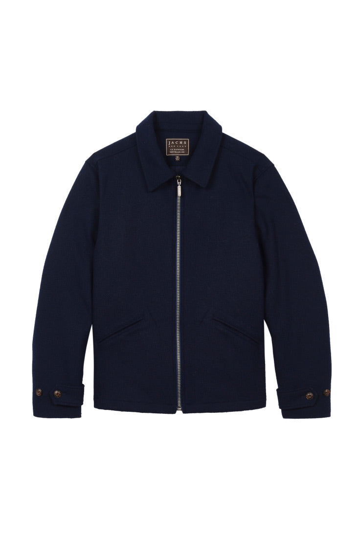Navy Wool Blend Jacket