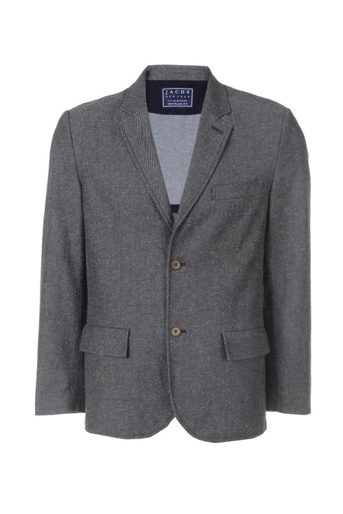 Grey Twill Cotton Donegal Blazer
