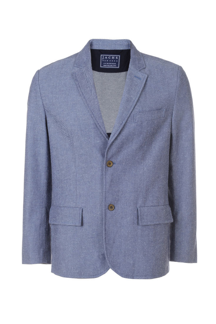 Blue Twill Cotton Donegal Blazer