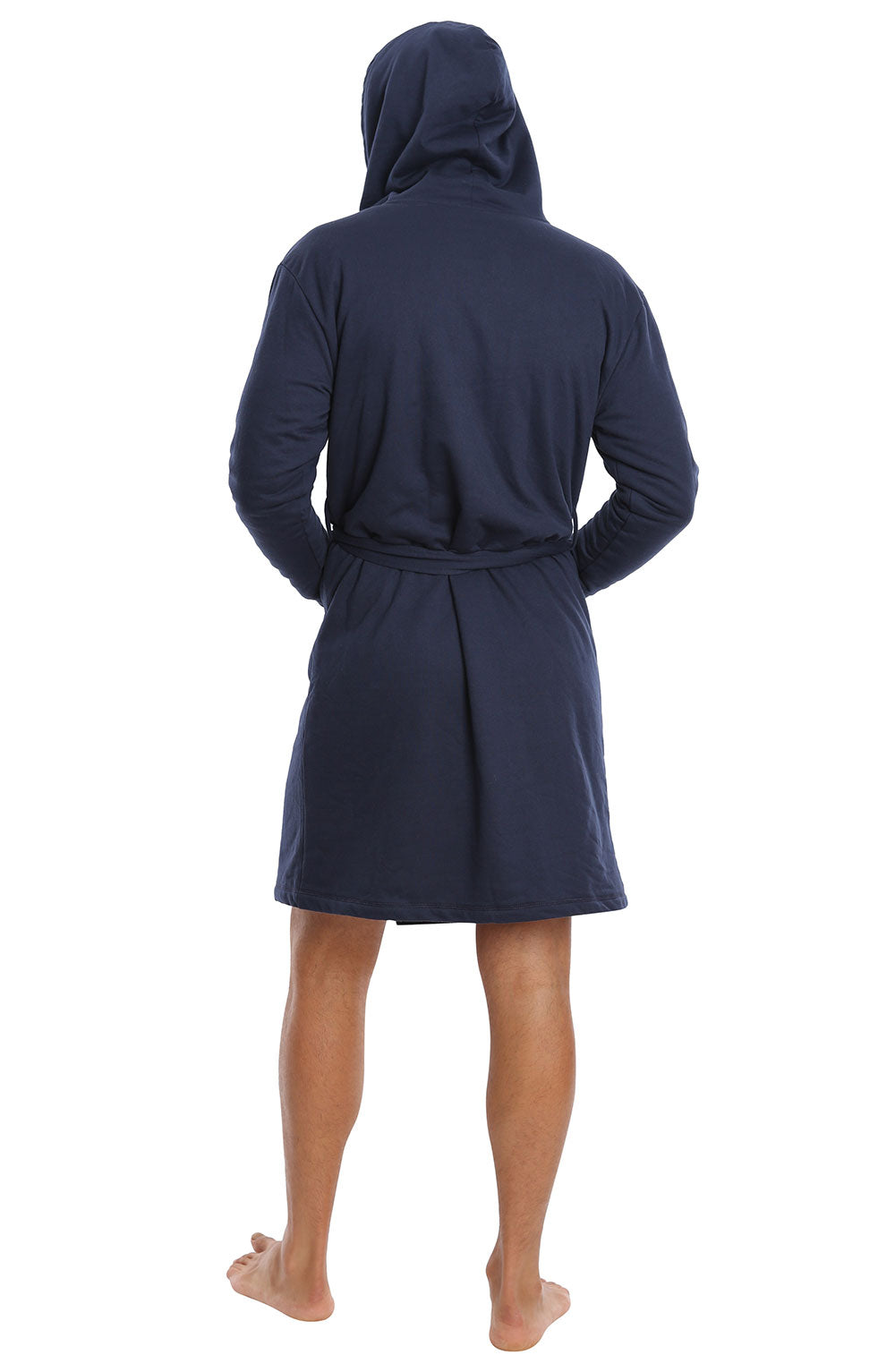 Navy Sherpa Lined French Terry Robe - jachs