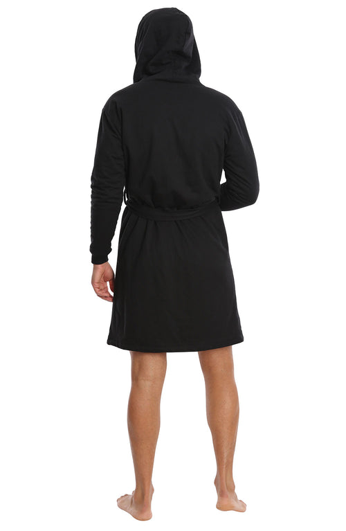 Black Sherpa Lined French Terry Robe