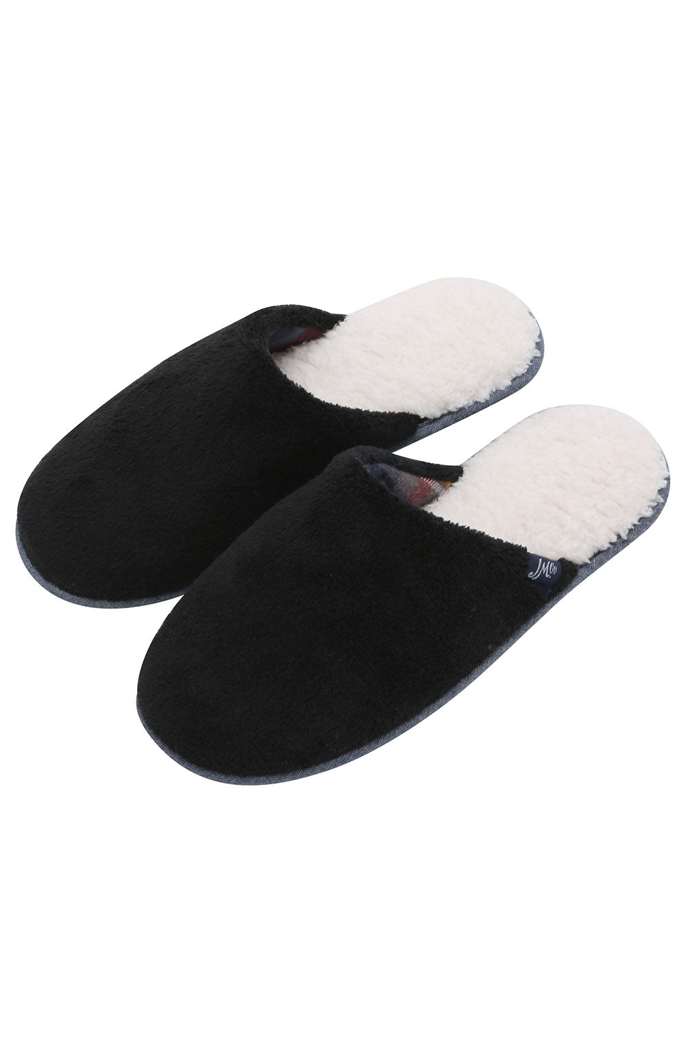 Black Sherpa Slipper with Memory Foam - jachs