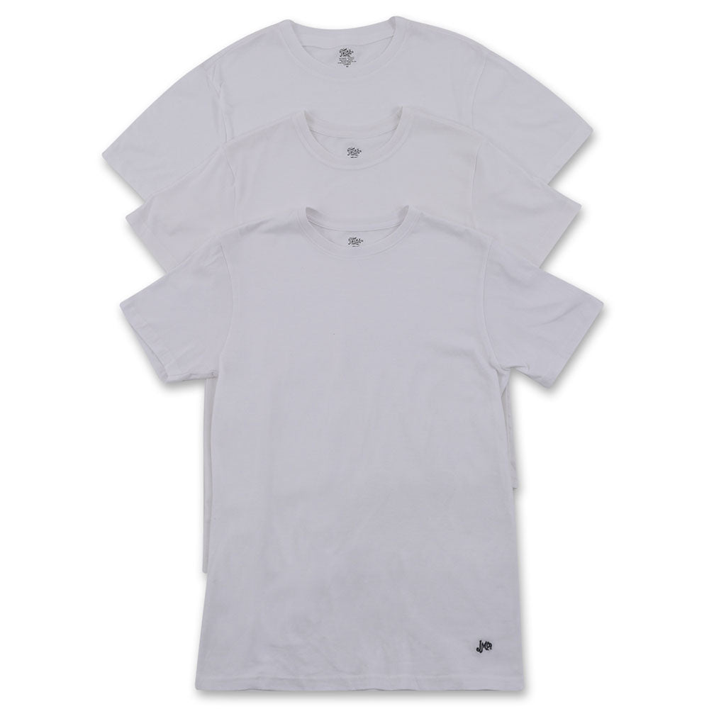 White 3-Pack Crew Neck T-Shirt - jachs